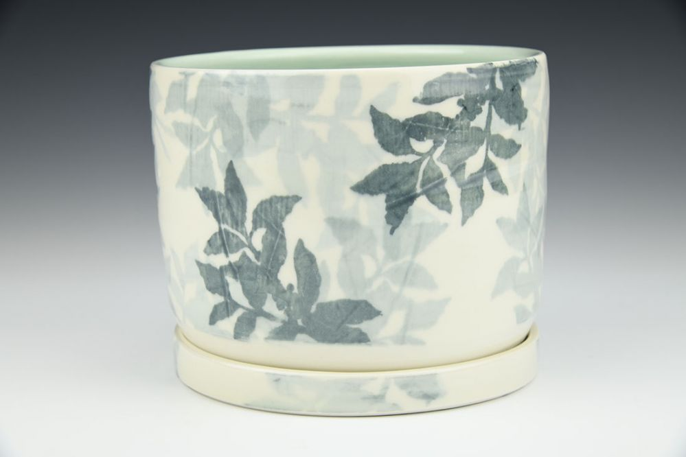 Coffee Plant Overprint Planter with Tray