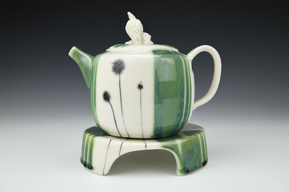 Dandelion Teapot with Tray