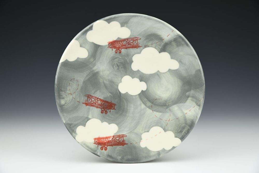 Stormy Skies Plate with Clouds