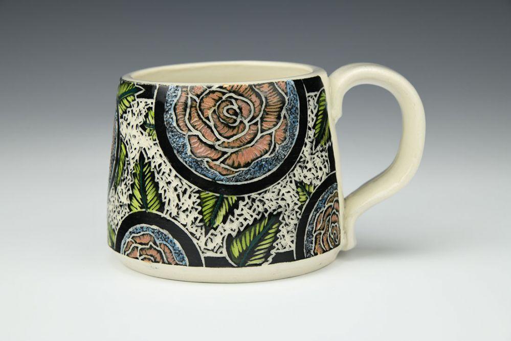 Small Peach Roses Mug
