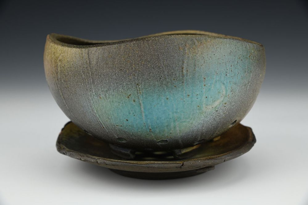 Earthy Colander and Plate