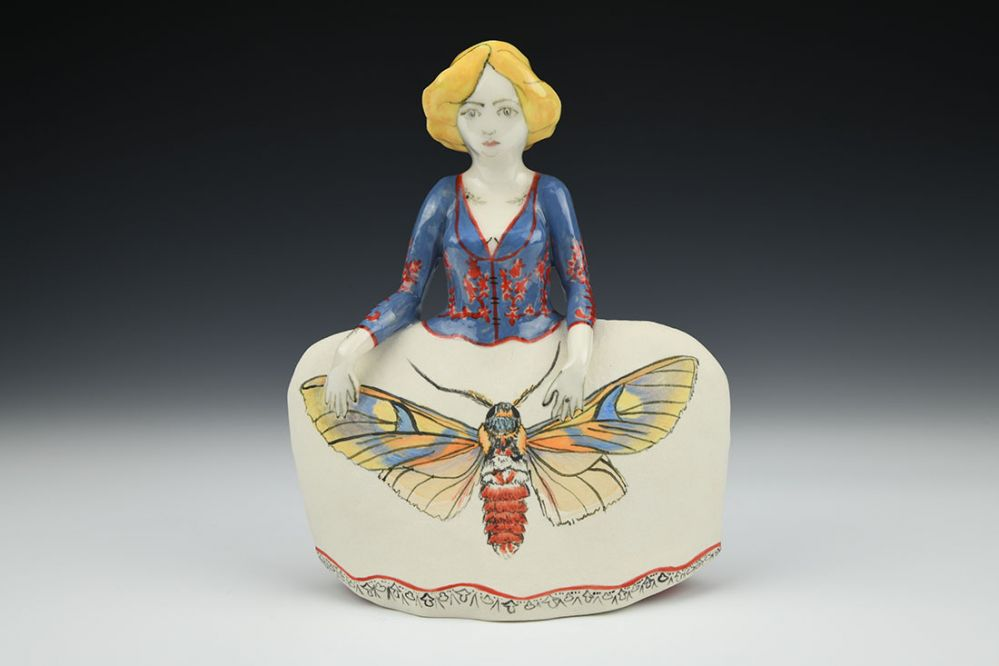 Eily Blonde Figure with Moth