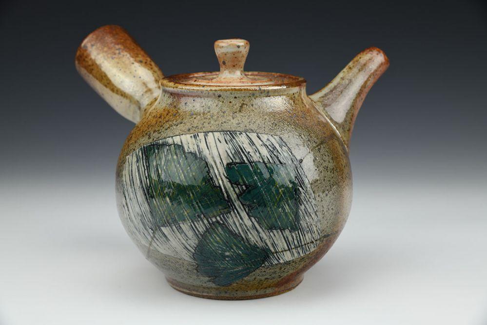 Side Handled Gingko Teapot