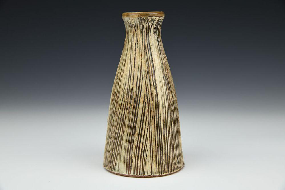Textured White Bud Vase